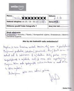 Hodnotenie pacienta po ošetrení